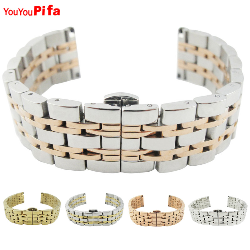 Fashion Watch Accessories Stainless Steel Bracelet Band 18mm 20mm Width 17.5cm Length Watchband