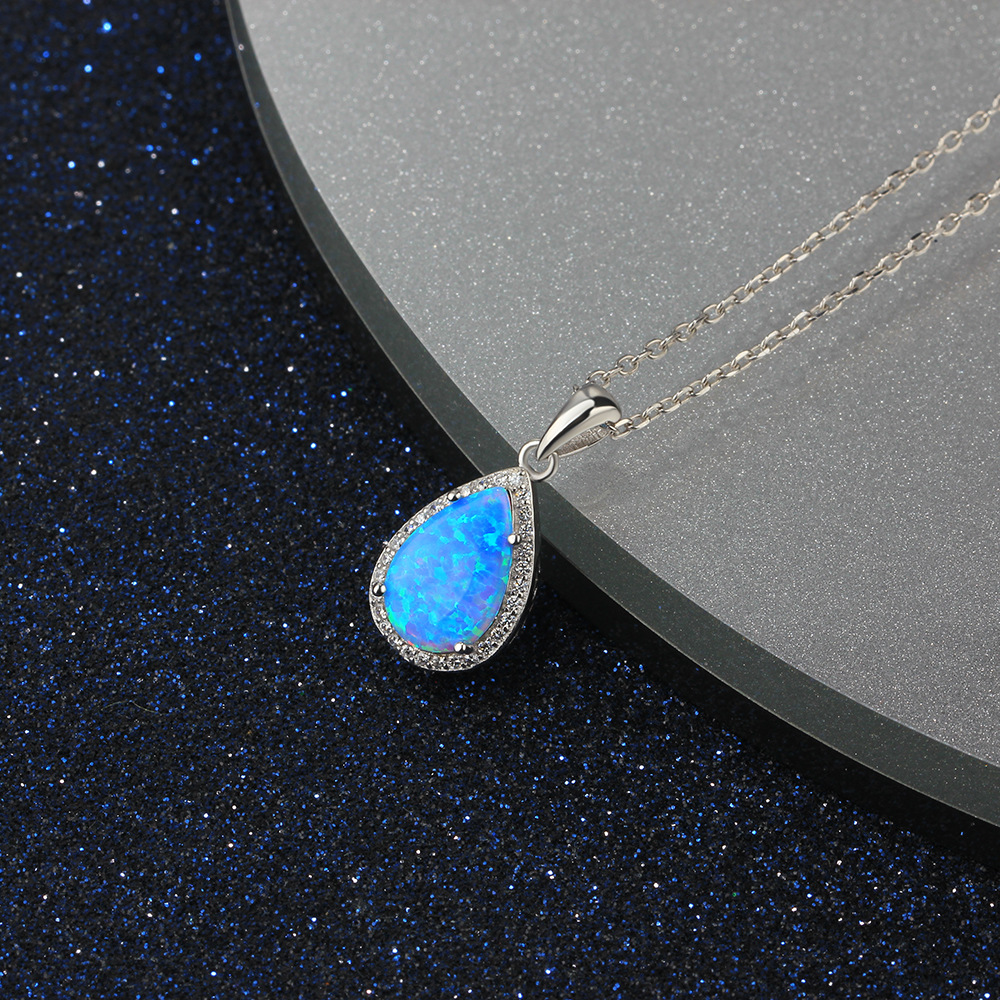 Hot new high quality fashion S925 silver necklace single zircon pendant necklace for couples gift FENG