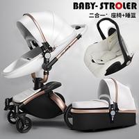 Cochecito de bebé AULON 3 en 1 con asiento de coche de gran alcance plegable cochecito de bebé para niños de 0 a 3 años de Prams para recién nacidos