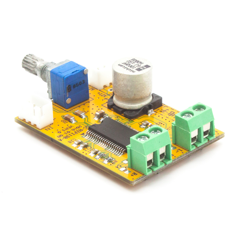 AMP board - TDA138-E Stereo Class D Digital Amplifier Board 2*20W 9-14V DIY for CAR home desktop 13