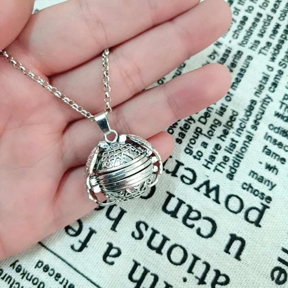 2019 Vintage Photo Locket Necklace Pendant Wings Gift Decoration Women men Gold Silver Necklace Jewelry DropShipping