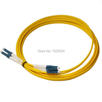 Free Shipping 10pcs/lot SM Duplex 9/125 PVC 3mm 3M LC/PC to LC/PC Fiber Optic Patch Cord Jumper Cable
