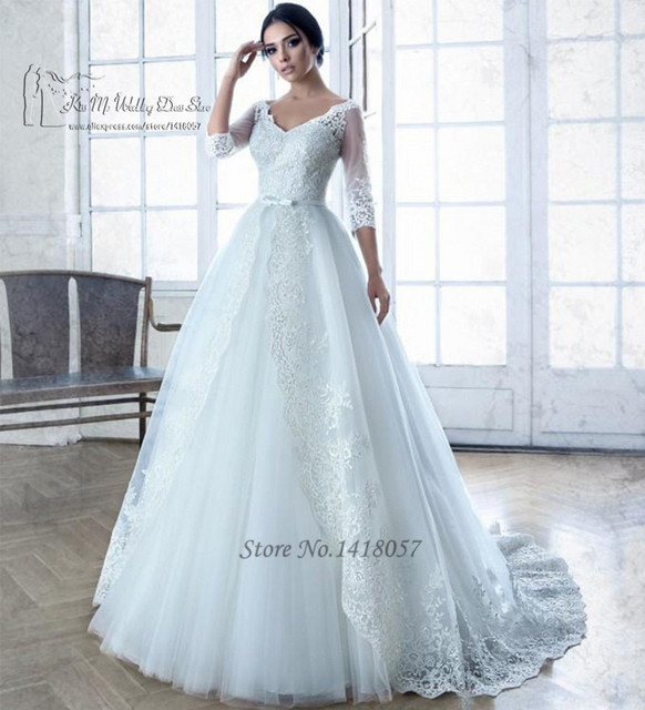 Aliexpress.com : Buy Castle Vintage Princess Wedding Dresses Ball ...