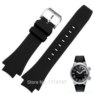 Новый силиконовый резиновый ремешок для часов, 26*16 мм, черный порт, ремешок для часов для океанских часов, замена