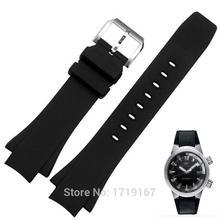 Новый силиконовый резиновый ремешок для часов 26*16 мм черный