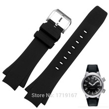 New Silicon Rubber Strap 26*16mm black port watchband  Watch Band for Ocean watches Replacement все цены