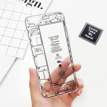 Original Transparent Capa Phone Case for iphone 6 6s Plus Special Design Phone Marble for Geek Crystal Clear Phone Back Shell