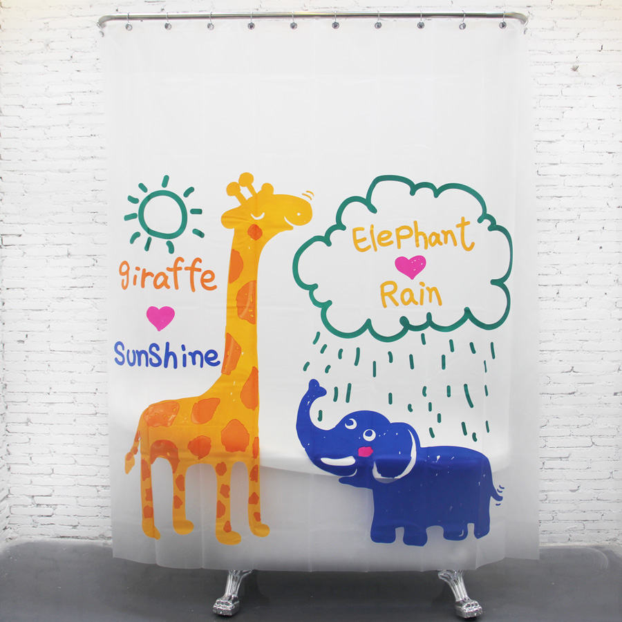Giraffes and elephants Waterproof Shower Curtain Bathroom Products Creative Polyester Bath Curtain cortina de bano with. Compare Prices on Giraffe Bath  Online Shopping Buy Low Price