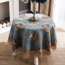 Round table tablecloth European cloth  fabric home round small living room coffee