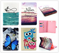 Vintage Cute OWI Design Book Style Flip PU Leather Stand Case Cover For Samsung Galaxy Tab A 9.7 inch T550 T555 P550 Tablet