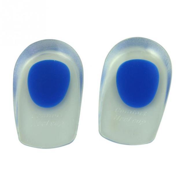 1 Pair Women Men Unisex Soft Rubber Gel Pain Heel Spur Cup Insoles Support Shoe Cushion Inserts For Man Shoe-Pad 4