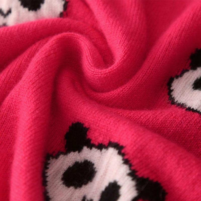 Pur Longues Pulls 100 2018 Manches cou Femmes Cachemire Brodé Pull Hiver Gray red O Tricoter En Rouge Pour Dames À gOnq1xdIXw