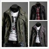 Freeshipping 2015 nieuwe slim sexy top ontworpen mens jasje jaqueta masculina kleur: zwart, legergroen, grijs