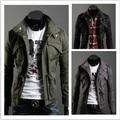 Magro Sexy Top projetado revestimento do revestimento dos homens jaqueta masculina cor : preto, Verde, Cinza