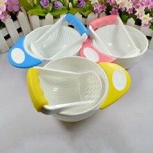 Kid Learn Dishes Grinding Bowl Handmade Food Supplement Children Infant Mill