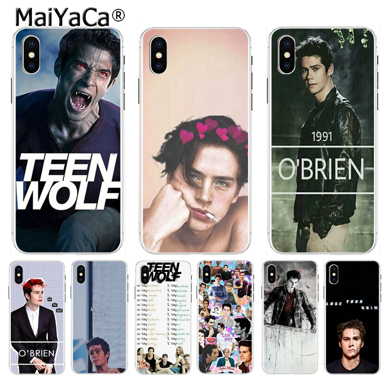 MaiYaCa Dylan O'Brien Teen Wolf DIY Painted Phone Accessories case for iPhone 8 7 6 6S Plus X XS max 10 5 5S SE XR Coque Shell
