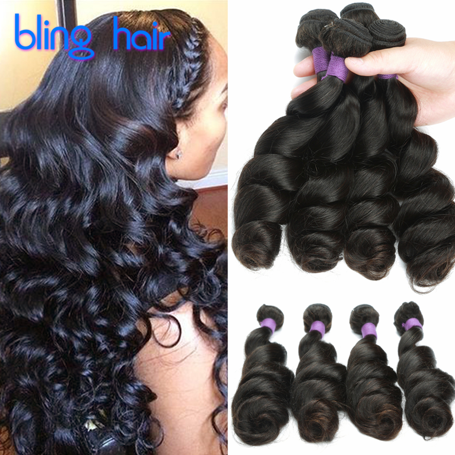 10a Grade Virgin Unprocessed Loose Curl Human Hair Weave Cambodian