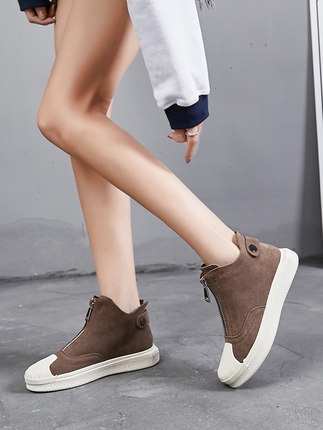 New flat casual shoes wild Korean student shell British womens shoesNew flat casual shoes wild Korean student shell British womens shoes