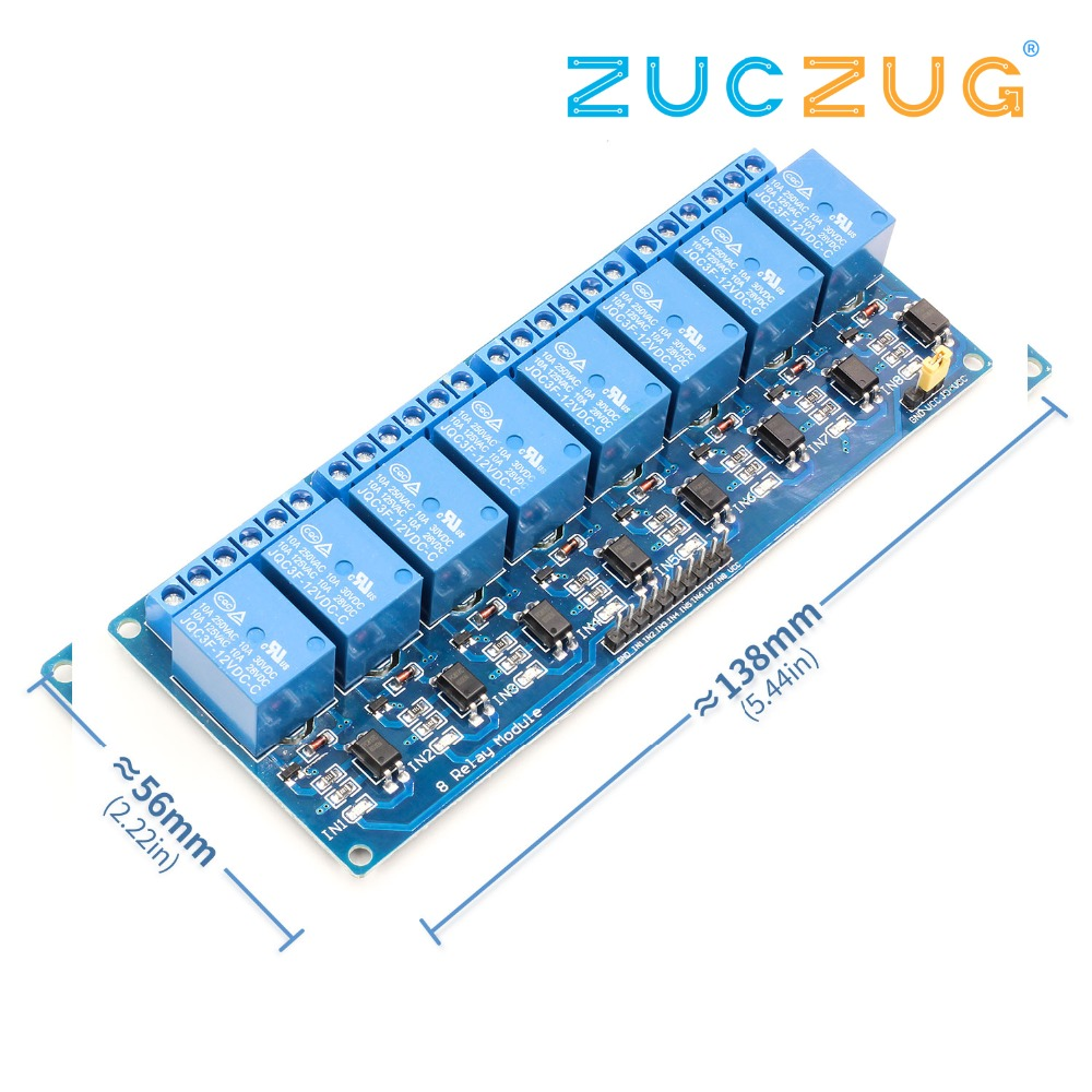 8 Channel Relay Module control panel 12V Low level trigger PLC8 Channel Relay Module control panel 12V Low level trigger PLC