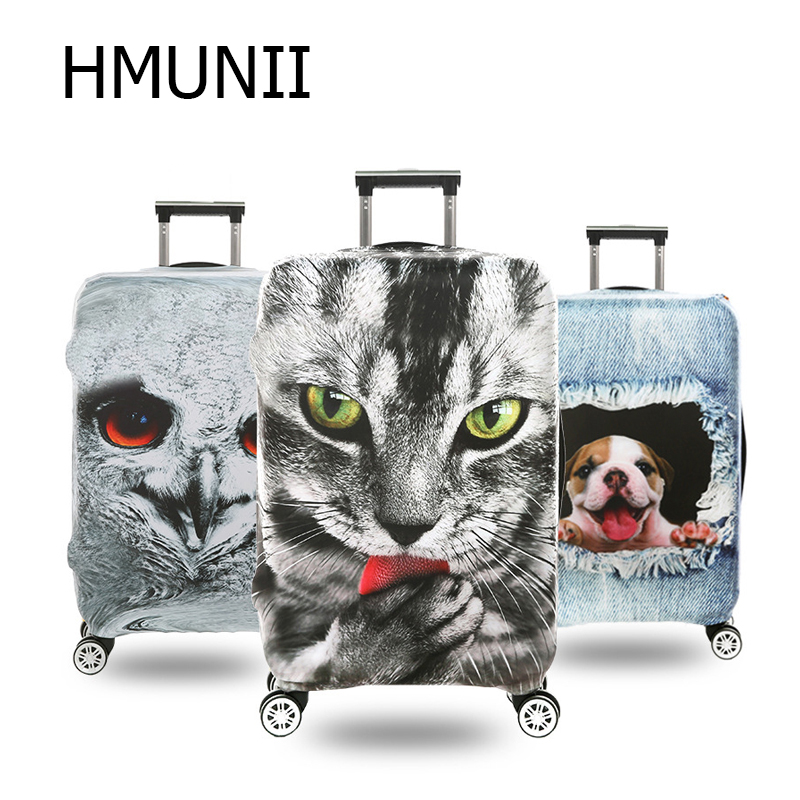 HMUNII 2019 3D Prints Suitcase Cover Luggage Cover Protector Elastitc Cover High Stretch Protection Dust-Proof Cover On Suitcase