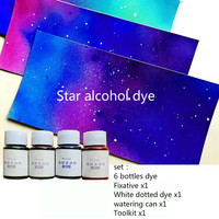 Star Alcohol Leather Dye Set with tools Gradient effect DIY Material Vegetable tanned leather Dyeing agent