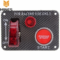 Racing Switch MP 3011 Carbon Fiber Ignition Toggle Switch Engine Start Push Starter Button Panel Kit