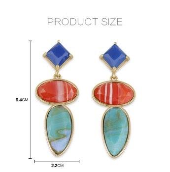 eaa252a11537 Ziris moda joyería creación nuevo pendiente grande de acrílico geométrica  del perno prisionero de moda diseño europeo para las mujeres regalo
