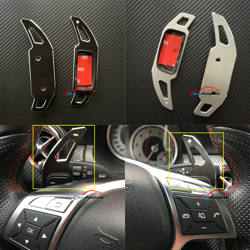 Paddle Shifter Extensions Sticker Trims Cover For Mercedes CLS class W218 2011 2012 2013 2014 2015