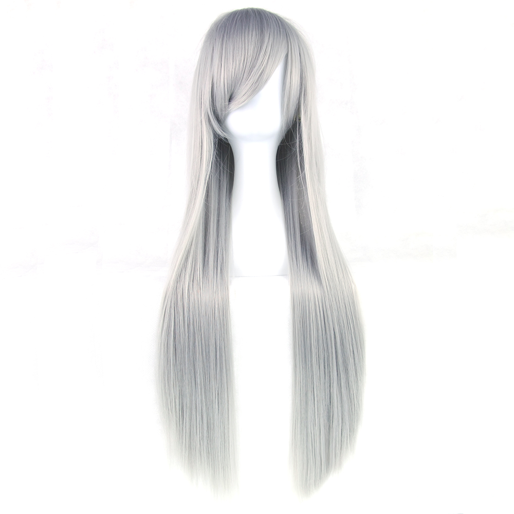 Soowee 24 Colors 32 Inch Long Straight Women Party Hairpiece Heat Resistant Synthetic Hair Nature Red Gray Cosplay Wig