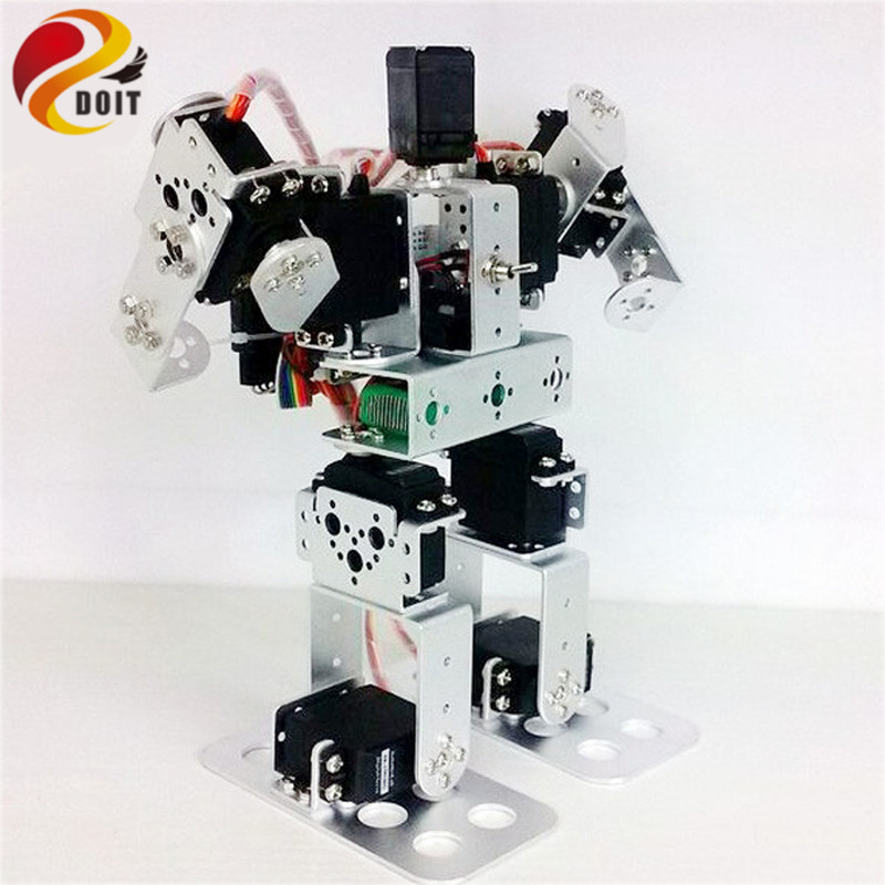 9DOF Biped Educational Humanoid Robot Kit med Servo Metal Robot DIY Kit Robot Toy