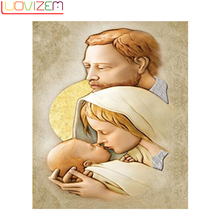 Diamond Painting religion 5D Diy Embroidery Cross-Stitch Religion Pattern Family Decoration Gift LUOVIZEM L042