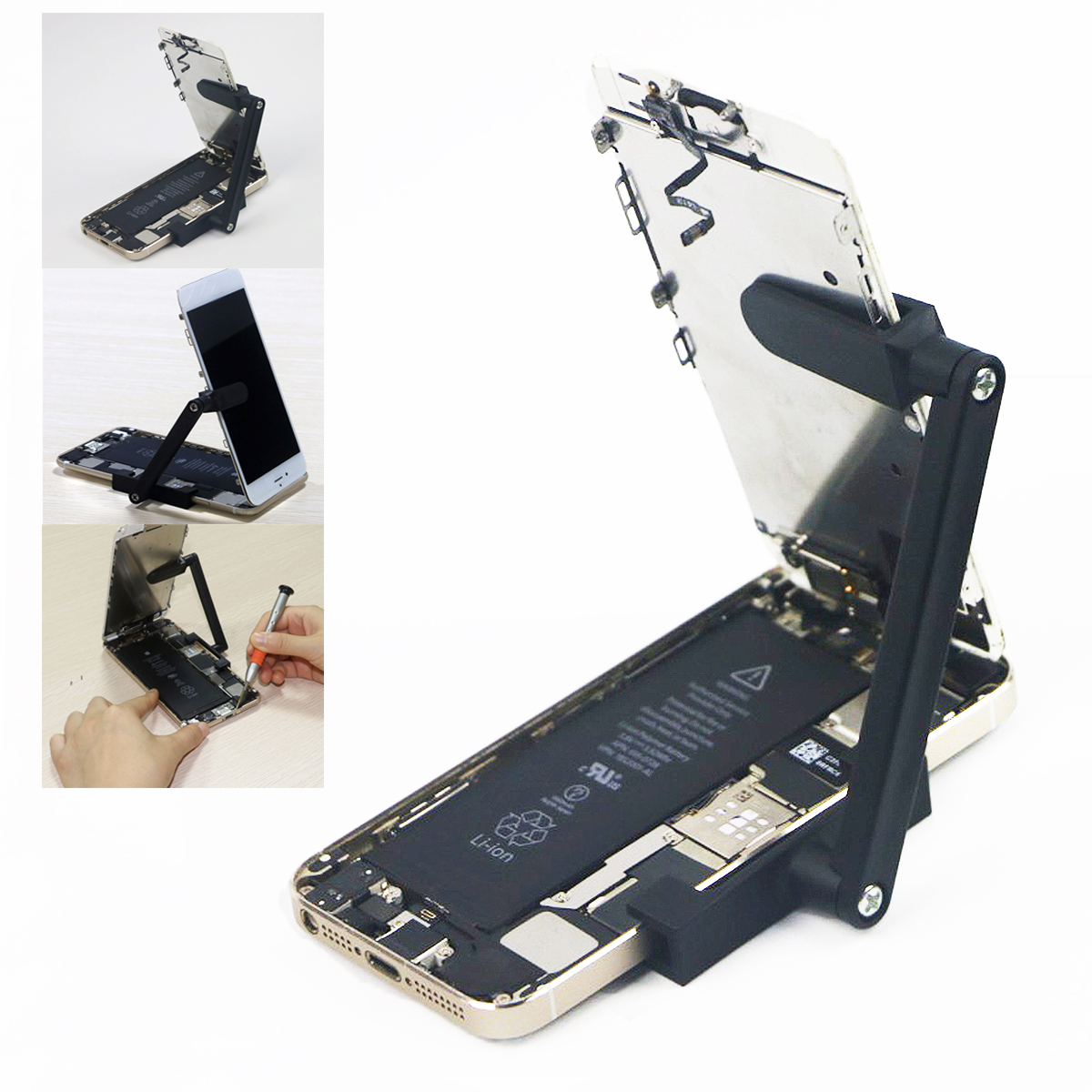 New Doersupp Adjustable LCD Screen Clamp Repair Holder Brasket for iPh one 6 6s Plus 5 5s for iP hone SE Hand Tool Part Flexible