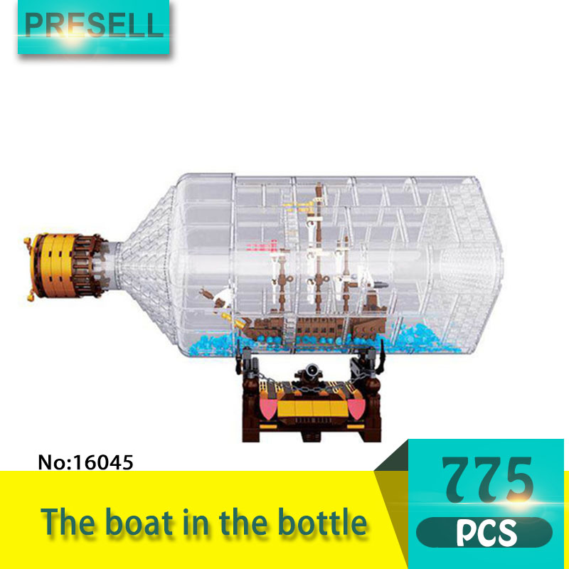 Lepin 16045 775Pcs Movie Series The boat in the bottle Model Building Blocks Toys For Children Compatible Pirates Caribbean lepin 16045 genuine 775pcs creative series the ship in the bottle set building blocks bricks toys model gifts