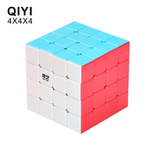 QiYi QiYuan S 4x4x4 Magic Cubes Professional Speed Puzzle Cube Stickerless Cube Toys For Children Educational Frosted material brand new shengshou megamorphix 4x4x4 rice dumpling stickerless magic cube mastermorphix speed cube pyramorphix