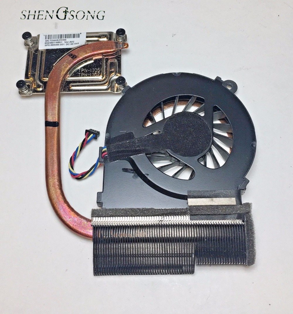 Original new 685086-001 6043B0116801 cooler for HP 1000 2000 CQ45 450 250 laptop cooling heatsink with fan radiator computer cooler radiator with heatsink heatpipe cooling fan for hd6970 hd6950 grahics card vga cooler