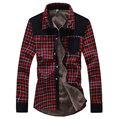 Hot sale frete grátis casual camisas dos homens da manta de lã quente camisa de manga longa para homens camisas de vestido C852