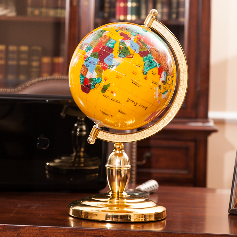Vintage Home Decor Globe World Map Plastic Crafts For Desk Office Decoration Diameter 15cm In Decorations From Garden On Aliexpress