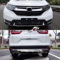 Спереди + заднего бампера протектор опорная плита крышка 2 шт. для Honda CR V CRV 2017 2018