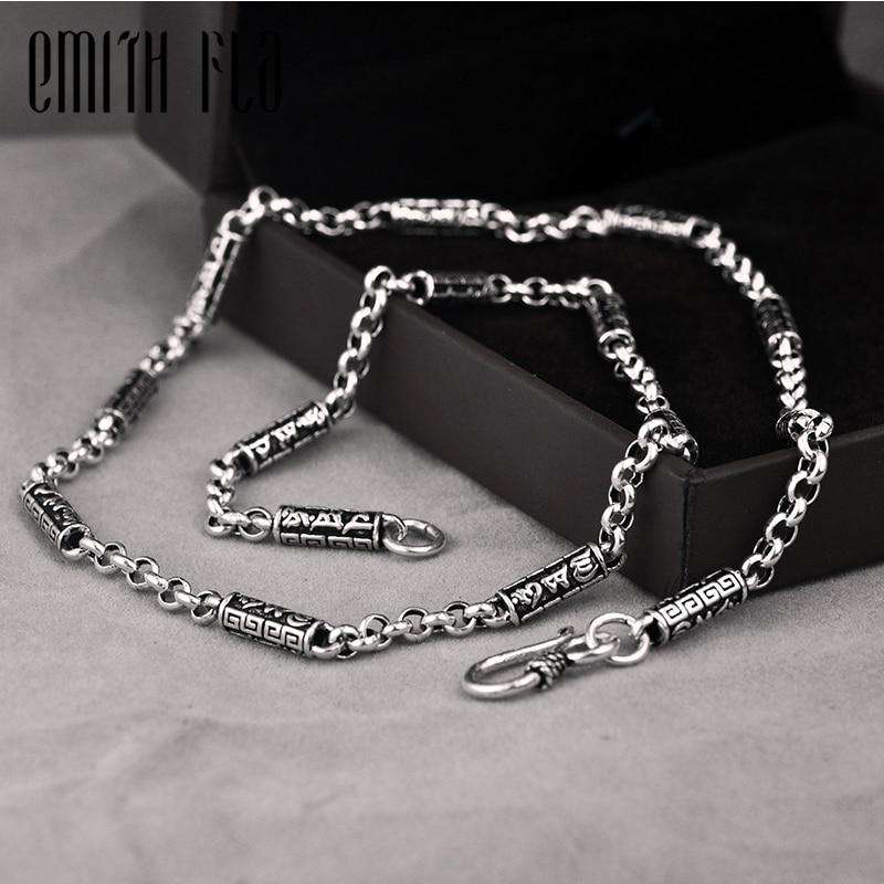 Authentique 925 en argent Sterling Vintage fantaisie collier Fit marque collier bijoux