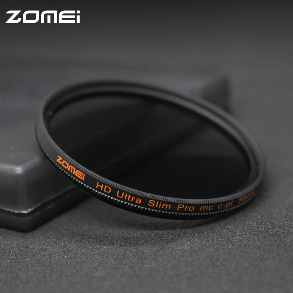 Zomei 49/52/55/58/62/67/72/77/82มิลลิเมตรCPLโพลาไรกรองบางP Ro HD MC C Ircular P OlarizingกรองสำหรับCanon Nikon P Entaxโซนี่-ใน ฟิลเตอร์สำหรับกล้อง จาก อุปกรณ์อิเล็กทรอนิกส์ บน title=