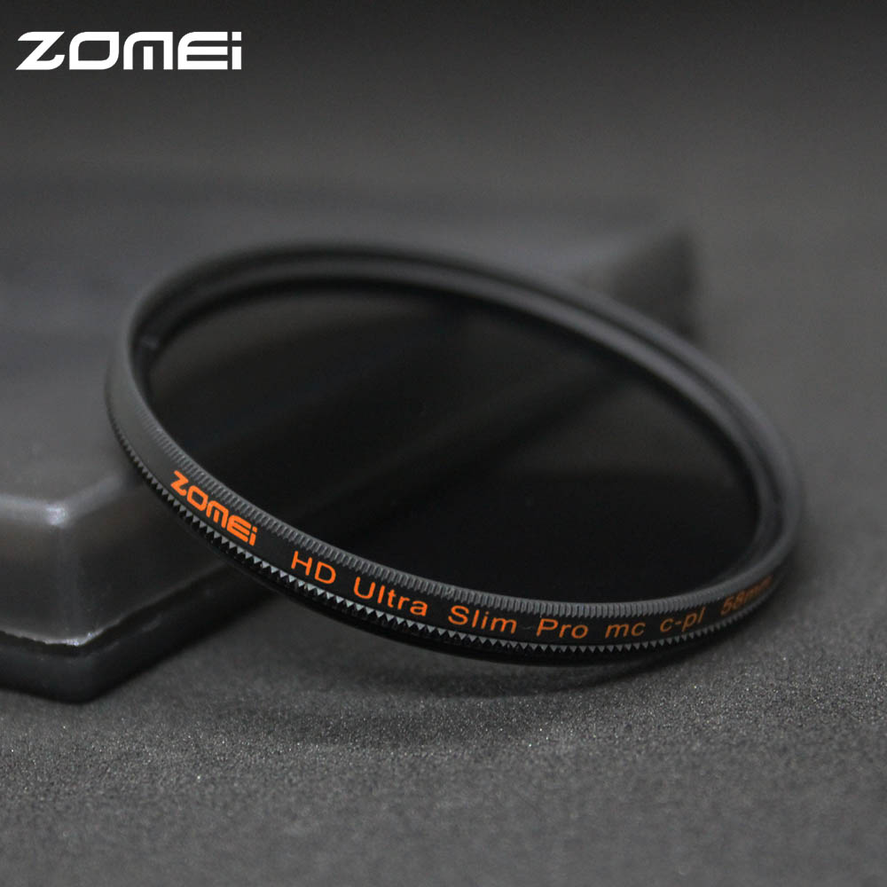 Zomei 49/52/55/58/62/67/72/77/82mm CPL Filter Sottile Filtro Pro HD MC Polarizzatore Circolare Filtro polarizzatore per Canon Nikon Sony Pentax