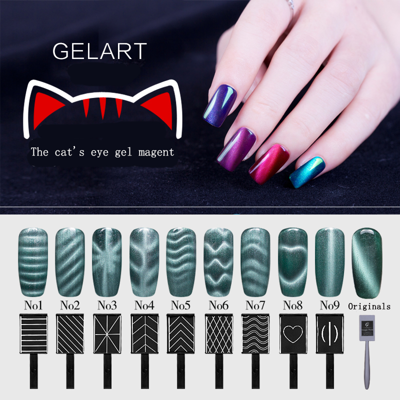 5 Different Styles Cat Eyes Magnet Stick for Magnetic Gel ...