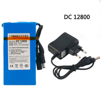 Cncncool DC 12V 8000mAh Rechargeable Battery High Quality Super Portable Lithium ion Battery DC12800 With Plug Drop shipping