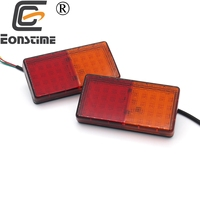 Eonstime Multi Functional 2pcs 12V 50LED Rear Tail Brake Stop Reverse Light Indicator Lamp Trailer Truck