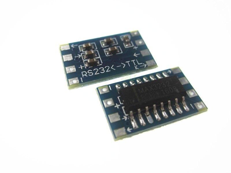 HAILANGNIAO 50pcs/lot Mini RS232 MAX3232 Levels To TTL Level Converter Board Serial Converter Board RS232 To TTL Serial