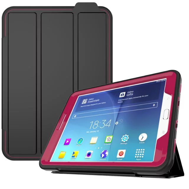 Armor Kickstand Funda For Samsung Galaxy Tab S2 8.0 T710 T715 SM-T719 Cover Tablet Shockproof Heavy Duty With Stand Hang