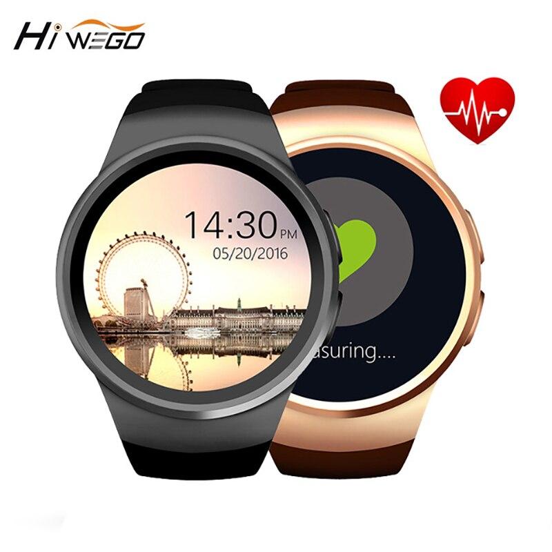 KW18 montre intelligente écran rond Hiwego marque Bluetooth 4.0 Anti-perte alerte à distance caméra traqueur de fréquence cardiaque noir/argent/or