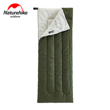 Naturehike Lightweight Compact Cotton Single Hiking Sleeping Bag Waterproof Square Packable Summer Outdoor Camping