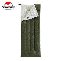Naturehike Lightweight Compact Cotton Single Hiking Sleeping Bag Waterproof Square Packable Summer Outdoor Camping Sleeping Bag