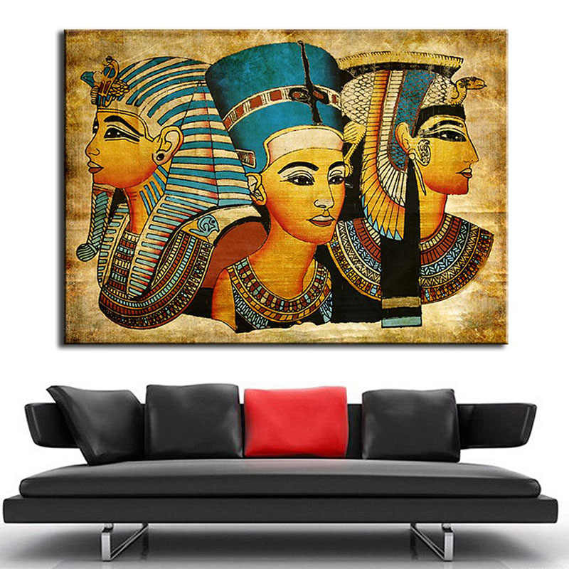1pieces / sets of Postmodern wall art abstract modern Egyptian woman portrait canvas painting in the living room print